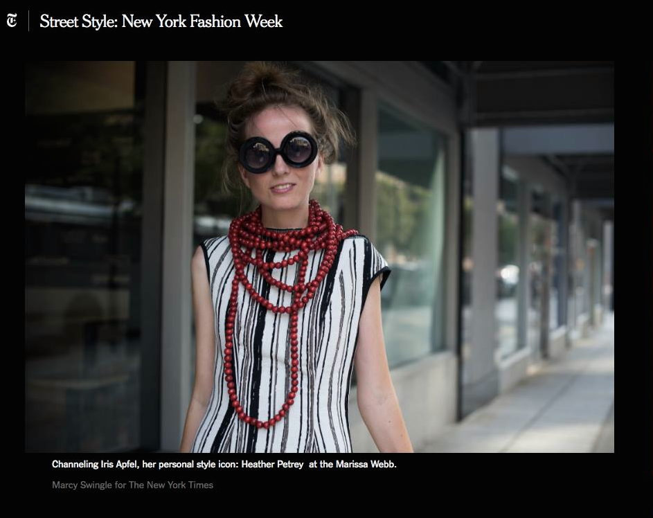 me, my style, NY Times, street style, NYFW