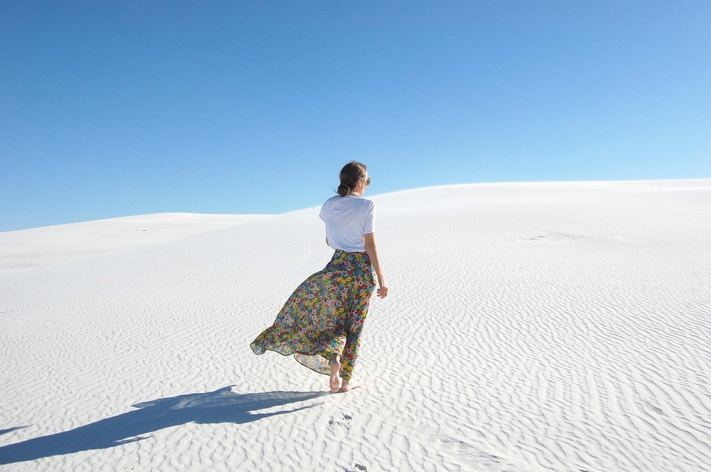 Blogger, White Sands, New Mexico
