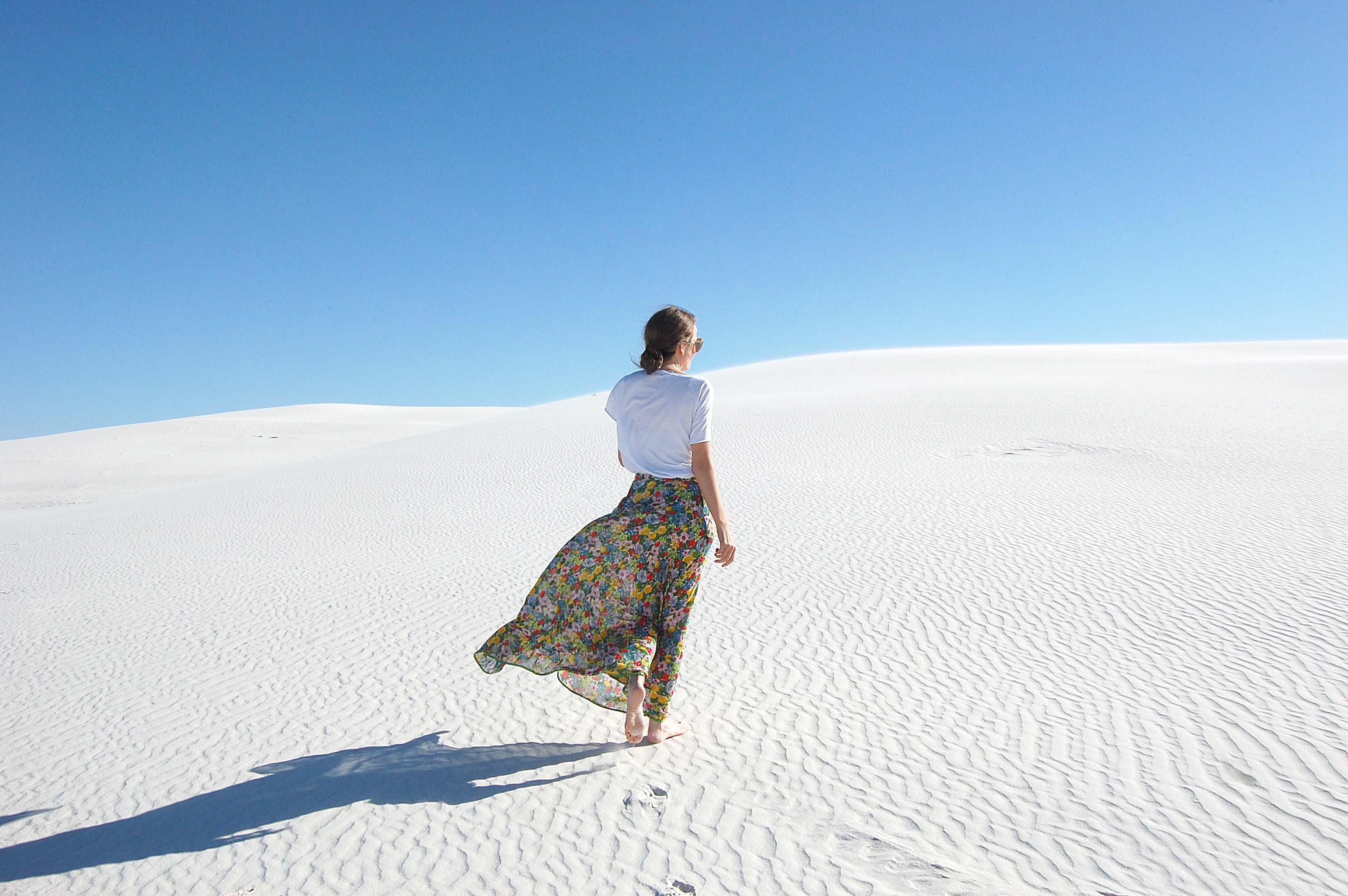 Blogger, White Sands, New Mexico