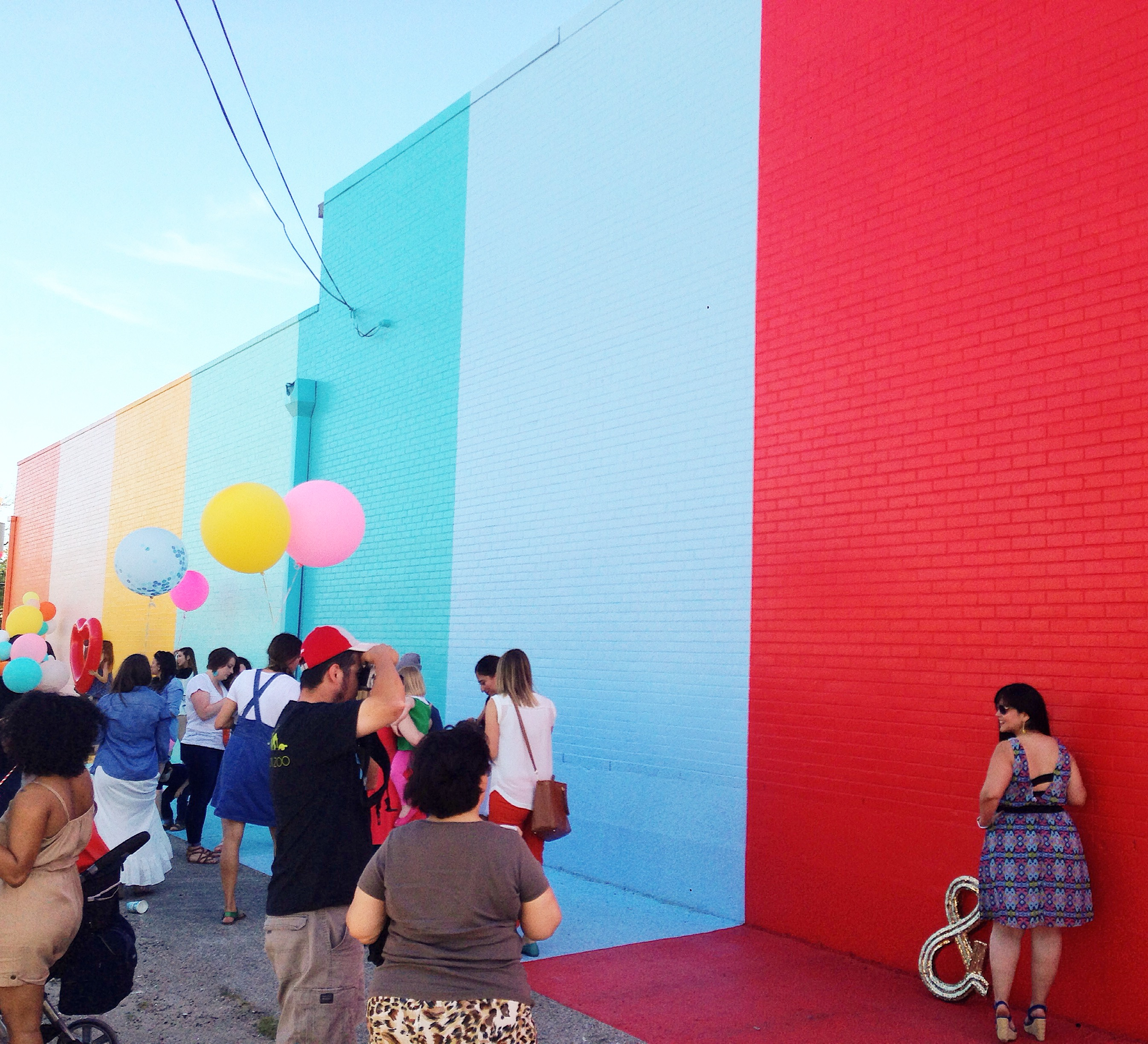 Sugar & Cloth Color Wall, Houston, art