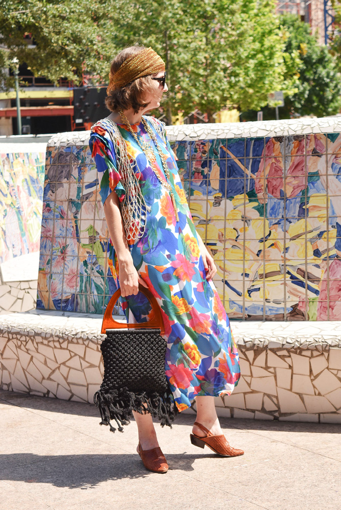 Outfit / Vintage Floral Caftan / LAFashionsnob /
