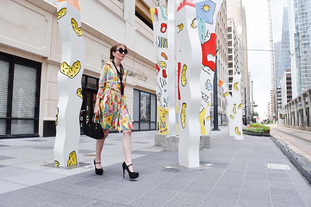 LAFashionsnob / Vintage Bill Blass Dress / Houston Fashion Blogger / style post
