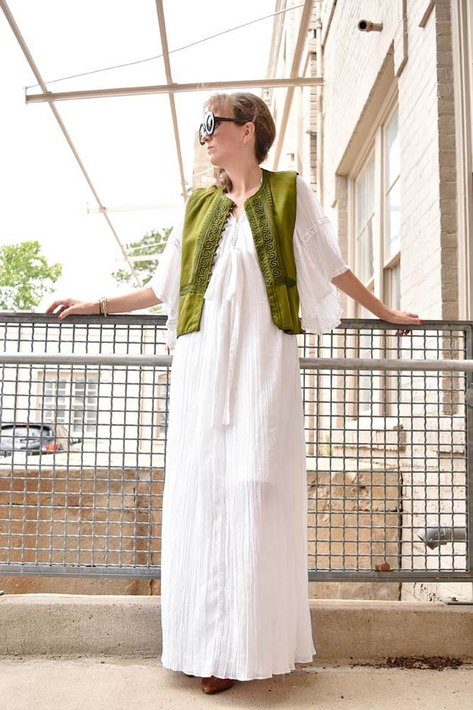 LAFashionsnob, outfit, vintage , necklace, J. LoVan Designs