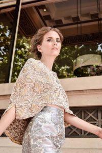 Steve Guthrie / Houston brand / Texas designer / pencil skirt / cape