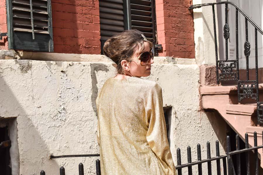 vintage caftan, Darylynn Eyewear, fashion blogger, NYFW