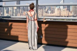 Laura Tanzer maxi dress, nyfw, sustainable fashion