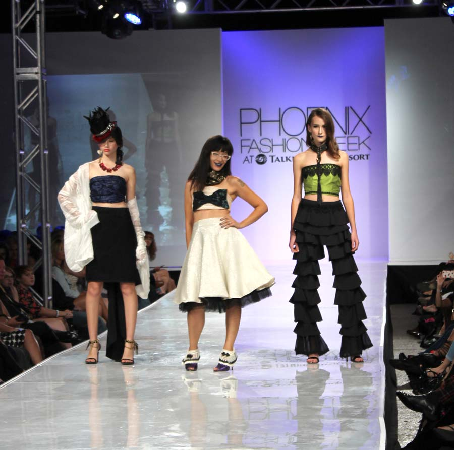 Designer Bunny Gerrit with models.