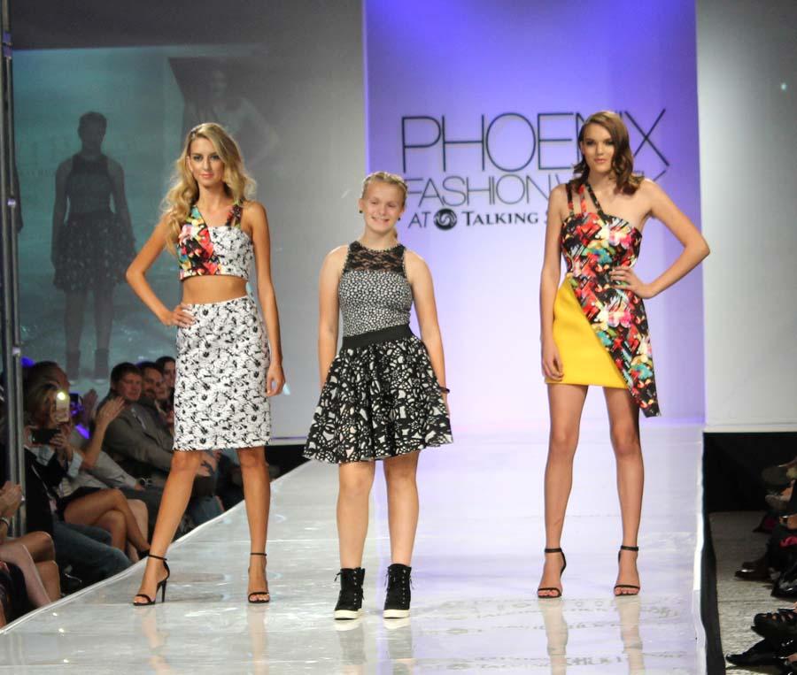 Designer Kelly Callaway with models.