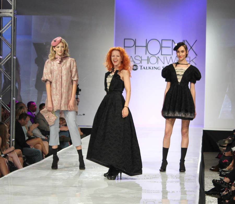 Designer Theo Doro with models.