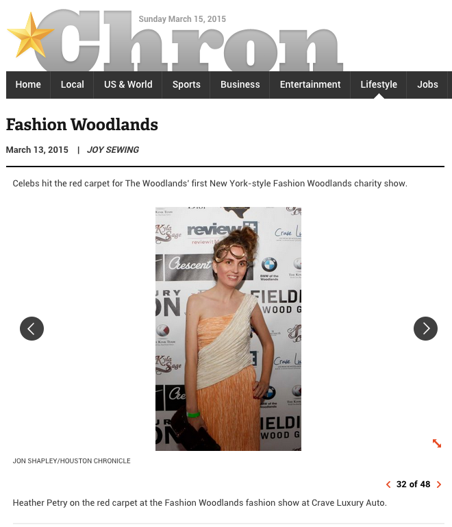 Houston Chronicle, me, my style