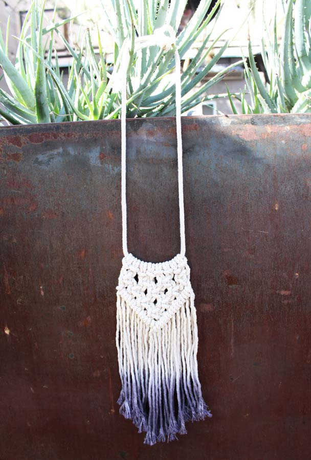 Emerge, macrame, macrame necklace, az maker