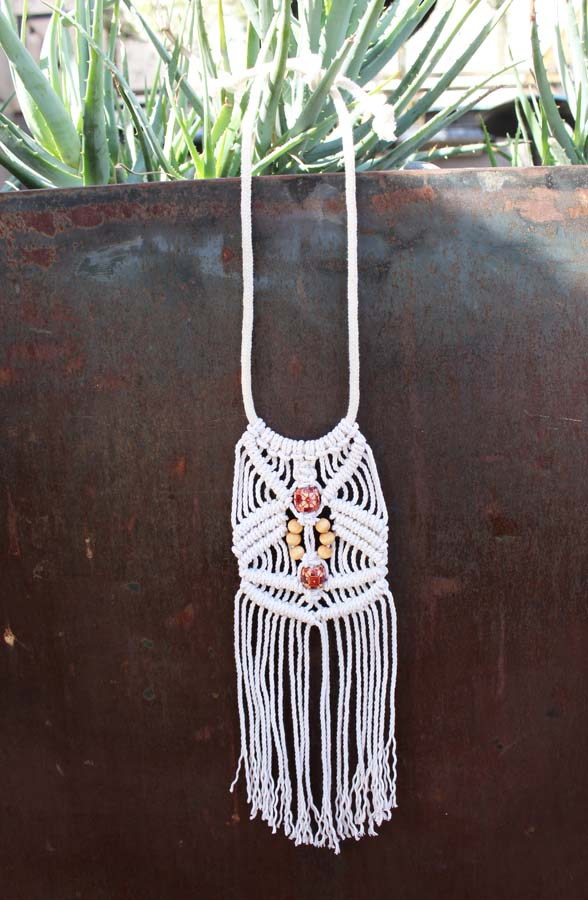 Emerge, macrame necklace, az maker, macrame
