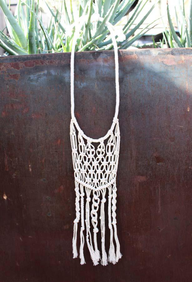 Emerge, macrame, macrame necklace, az maker