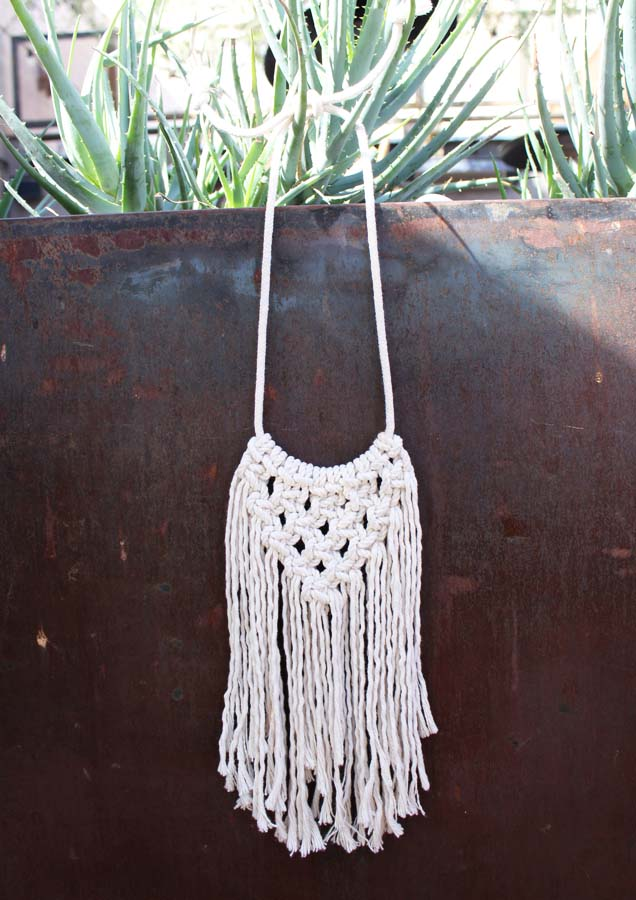 Macrame necklace, macrame, Emerge, AZ maker