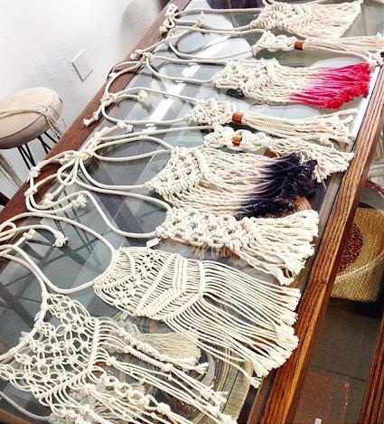 Macrame necklaces, Emerge, AZ maker, macrame