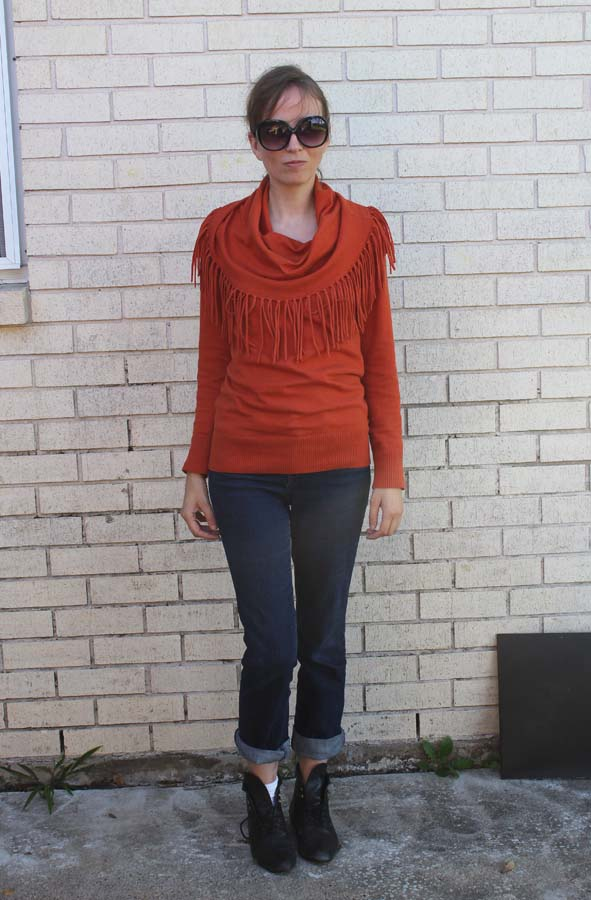 styling a cowl neck sweater, style tutorial