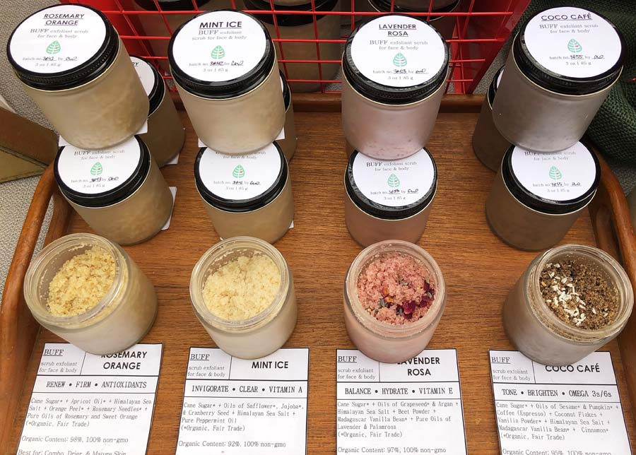 Natural body scrubs by Slather Botanicals