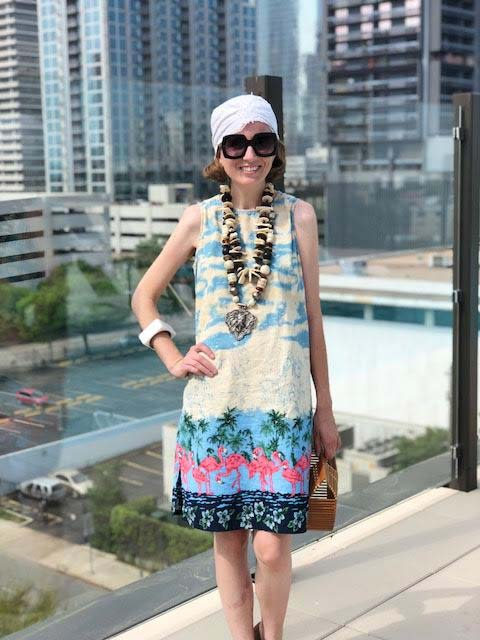 my style, flamingo dress, houston blogger
