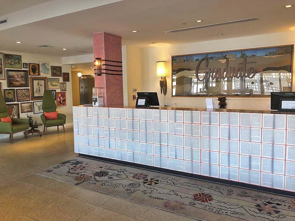 Graduate Tempe, interior, lobby, hotel, Arizona