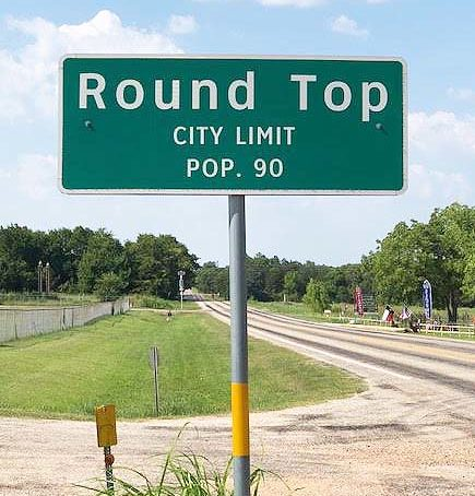 Round Top sign